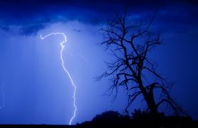 Thunderstorms brought the threat of lightening strikes this week, potentially causing more fires.