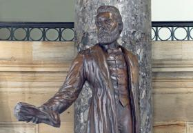 A statue of early pioneer missionary Jason Lee stands in the U.S. Capitol Building ... for now.