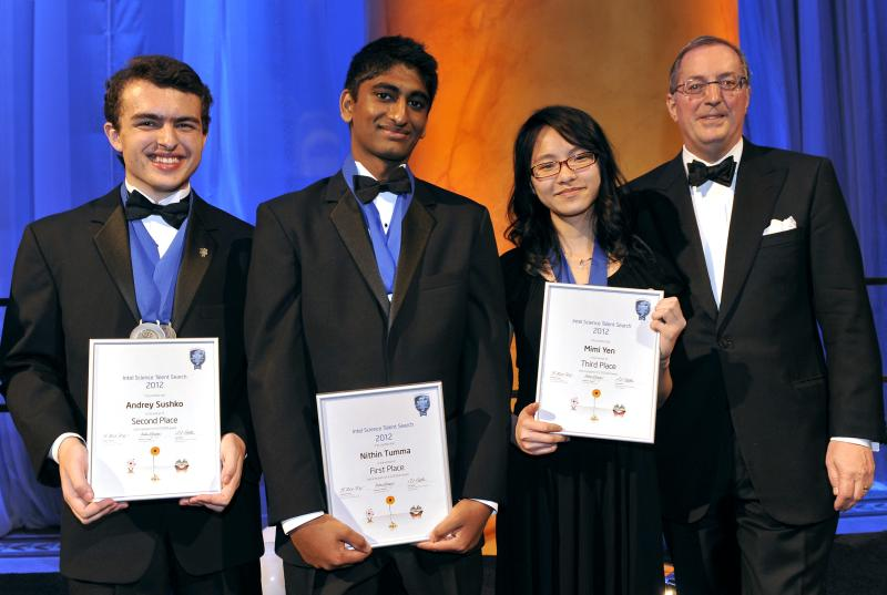 Andrey Sushko, 17, of Richland, far left, recently competed against more than 1,000 students in the Intel Science Talent Search 2012. He took home second prize, a $75,000 award for college.