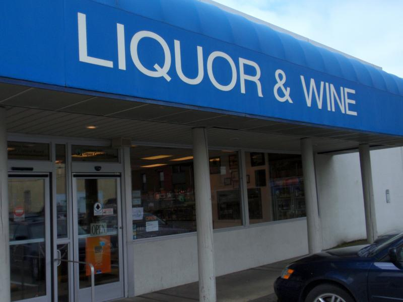This state-run liquor store in downtown Olympia was among those auctioned off.