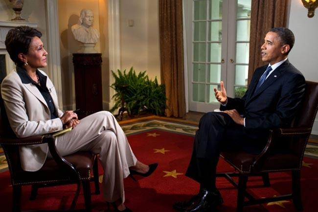 President Barack Obama endorsed same sex marriage in an interview with Robin Roberts of ABC's Good Morning America.