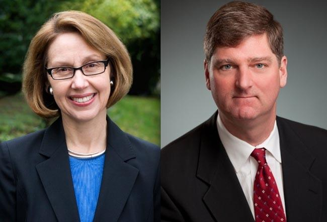 Candidates for Oregon Attorney General Ellen Rosenblum and Dwight Holton.