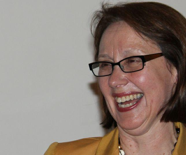 Former state judge Ellen Rosenblum celebrates her victory in the Democratic primary for Oregon Attorney General.