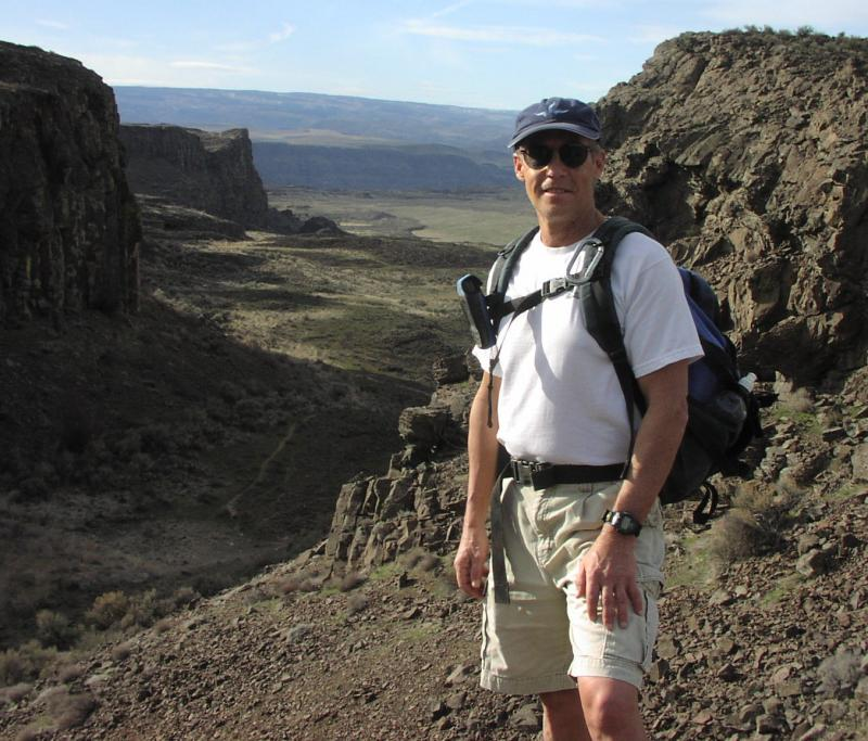 Bruce Bjornstad, of Richland, near the Potholes Coulee near Quincy, Wash.