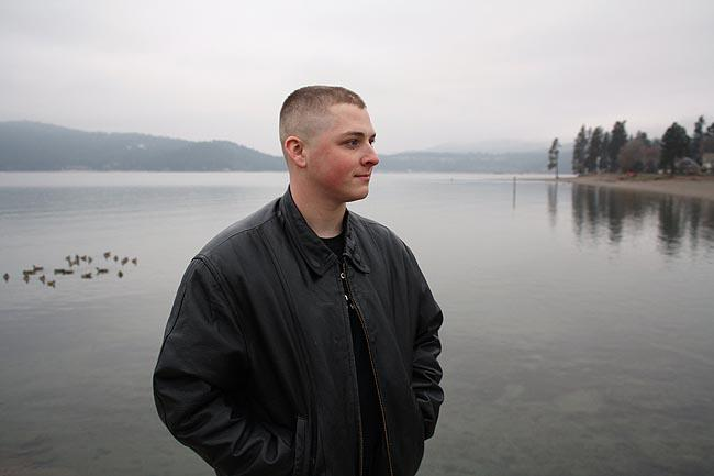 Spc. David Hampton, 21, returned to Hayden, Idaho, in September and is still looking for work.