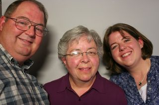 Pat Cabbage, with his wife Beverly, and their daughter Katie