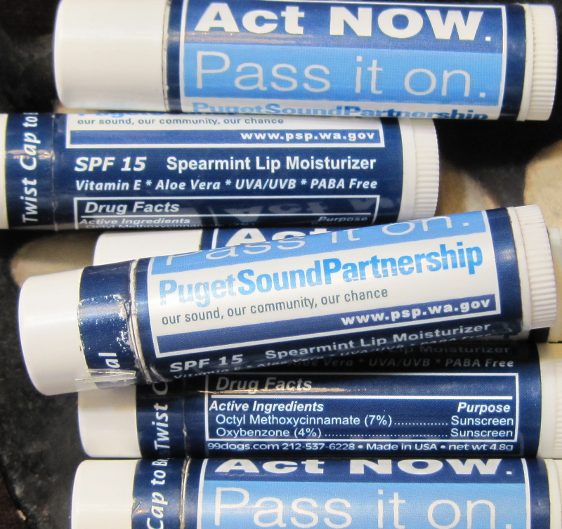 Puget Sound Partnership lip balm