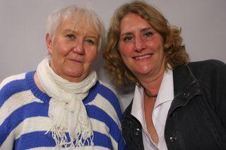 Kerstin Ringdahl (L) and Fran Lane Rasmus (R)