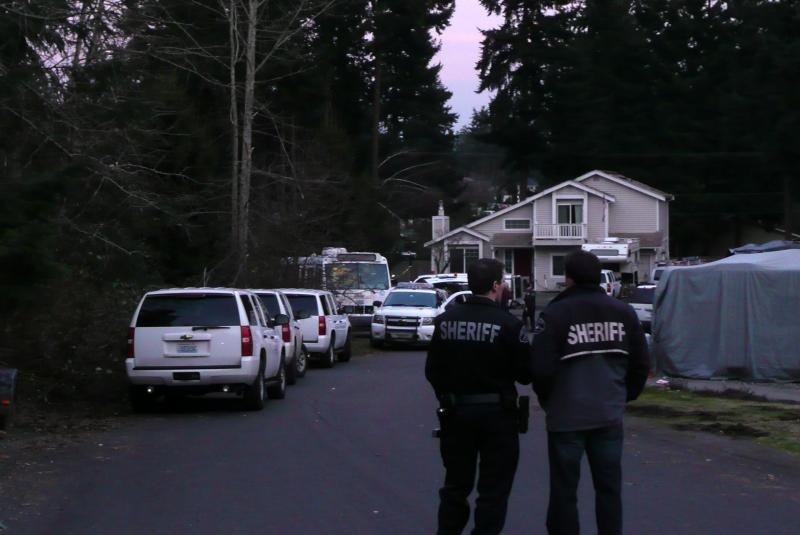 A house fire in Graham, Washington is being investigated as a murder-suicide.