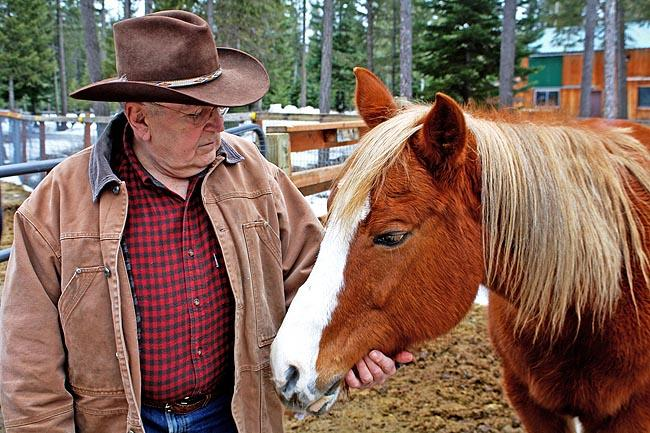 Tony Mangan of Spirit Lake, Idaho, says Panhandle Equine Rescue removed Maggie from a ranch where she and other horses were starved.
