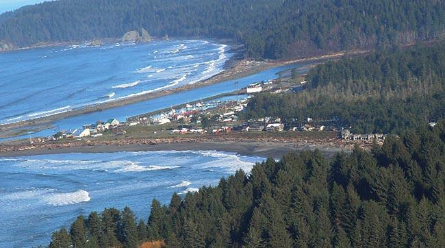 A coastal Quileute village.