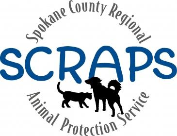 The logo of Spokane County Regional Animal Protection Service, an animal rescue service involved in the investigation.