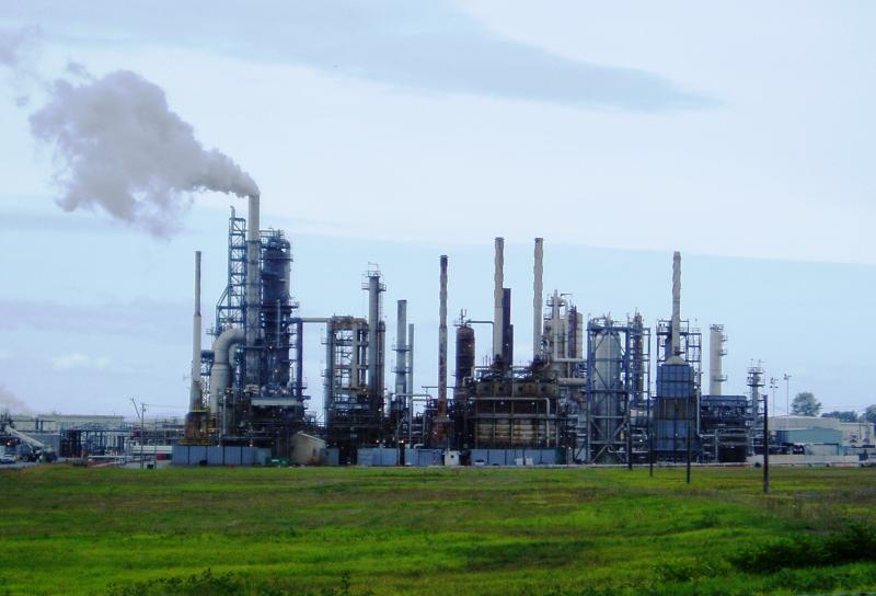 ConocoPhillips oil refinery at Cherry Point, Washington.