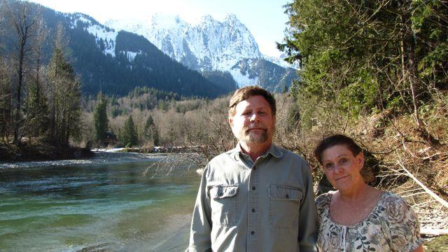 Jeff Smith and his wife at Sunset Falls.