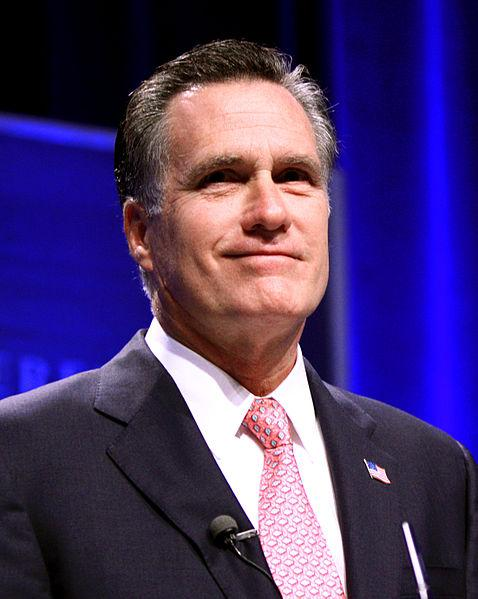 Former Governor Mitt Romney.