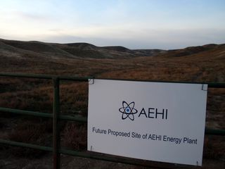 Proposed nuclear plant site is presently private ranchland