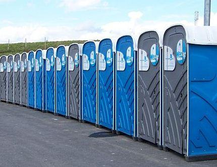 Portable toilets similar to what the fined company may use.