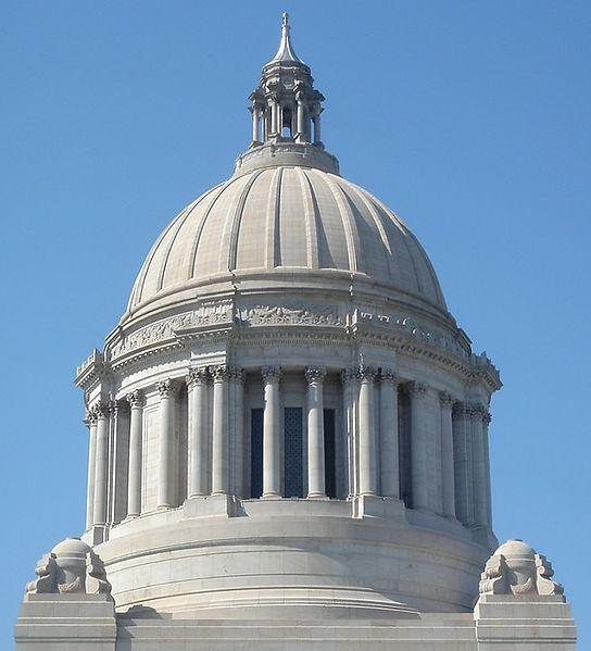 Dome of the Washington State Capitol Building in Olympia.