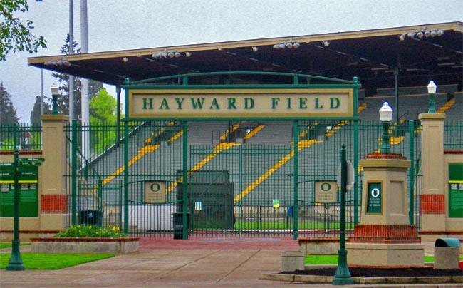Hayward Field in Eugene is the site of the U.S. Olympic Track and Field Trials.