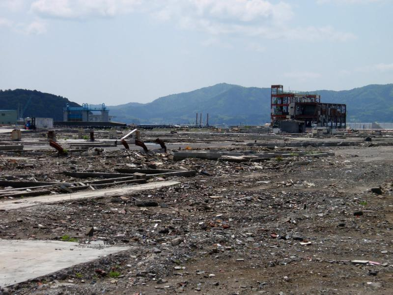 Minamisanriku buildings destroyed by last year's tsunami.