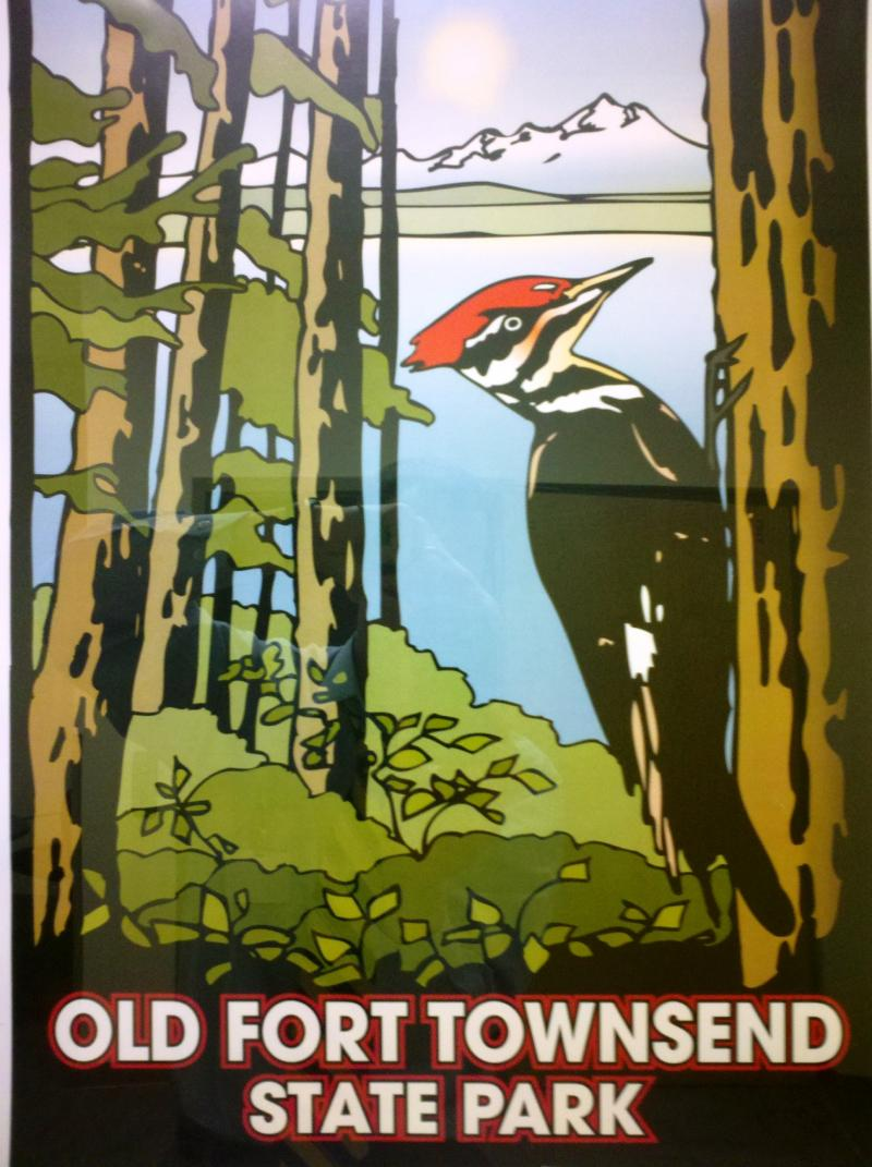 An iconic poster promotes a state park.