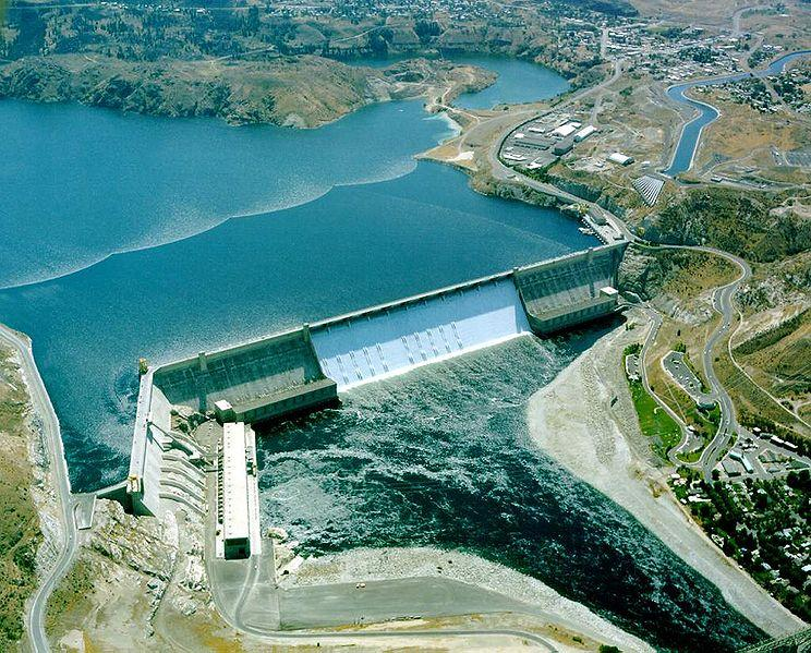 The Grand Coulee Dam, one of the Bonneville Power Administration's federal hydro projects.