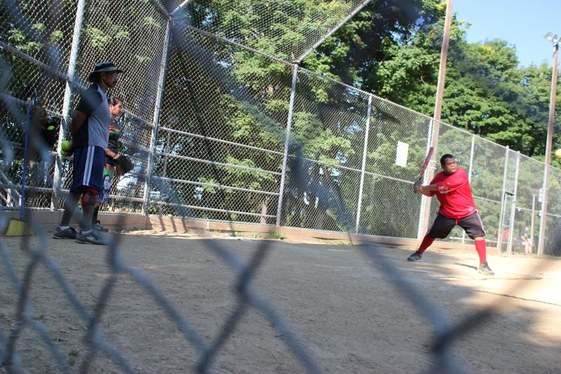 Umpire Wilson Johanes began Portland's Palauan softball league as a way to bring the community together.