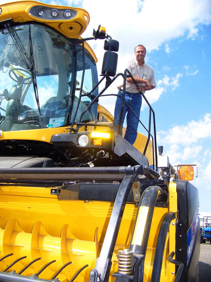 Owner Todd Ray, of SS Equipment, says his sales are up 20 percent from about two years ago. He owns ten New Holland tractor dealerships in Washington and Oregon. Ray attributes the uptick to higher commodity prices.