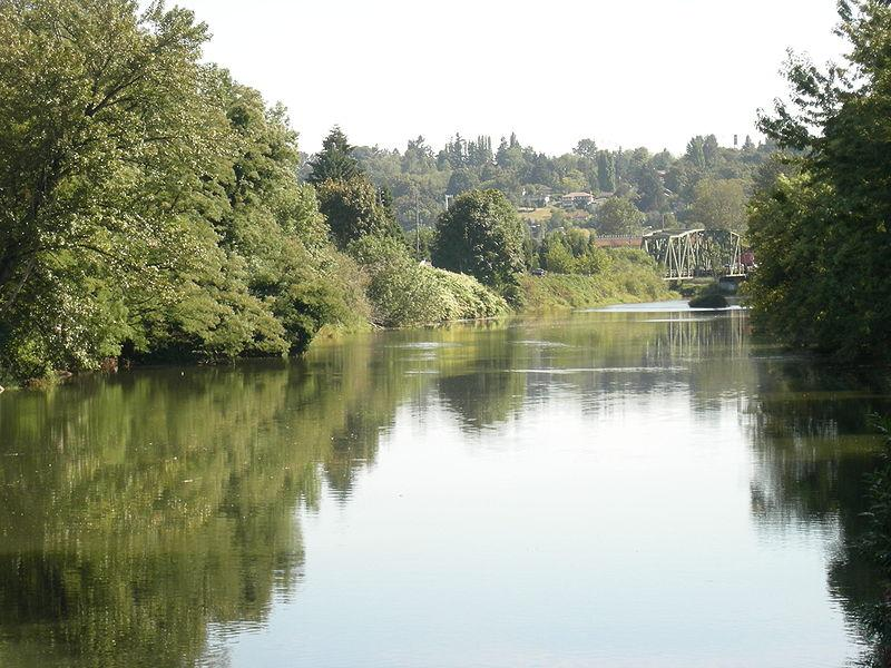 The upper part of the Duwamish River, seen from 119th Street in Tukwila, Wash.