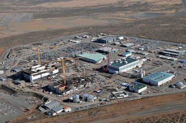 Hanford Nuclear Reservation, seen from the air.