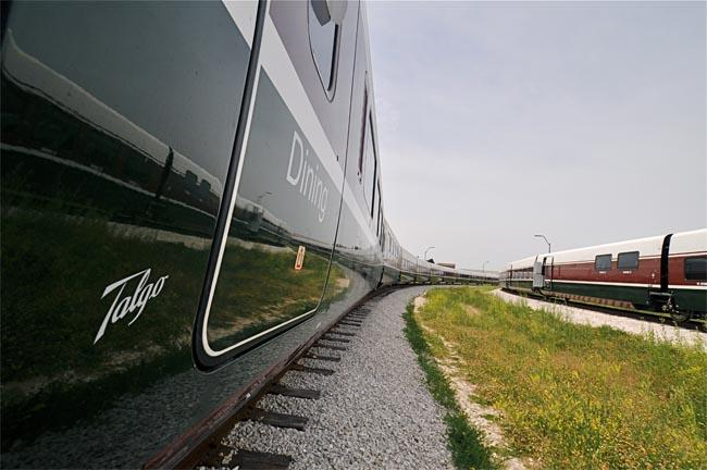Oregon's two new train sets are months away from completion at a Wisconsin factory.