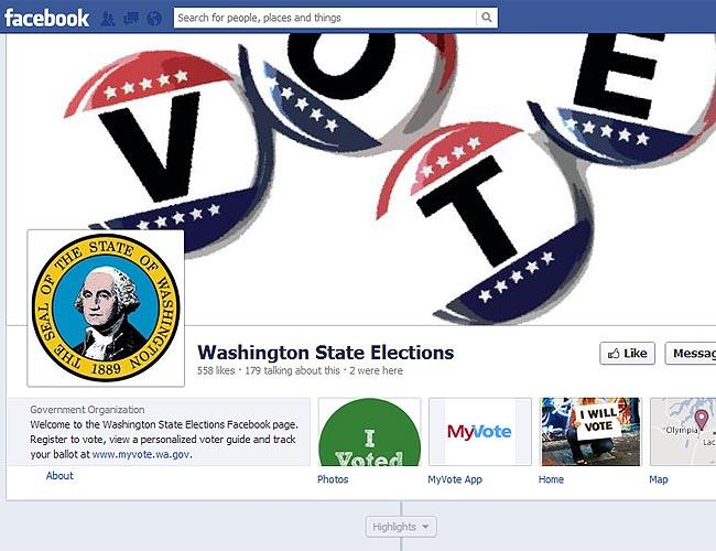Eligible voters in Washington state can now register through Facebook.