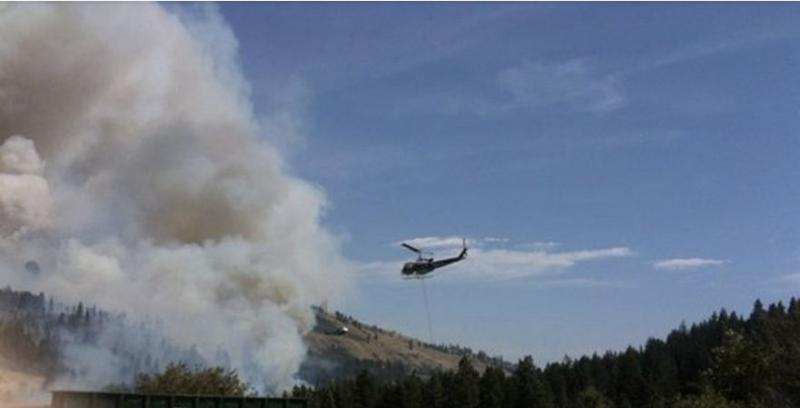 The Kittitas Valley Wildfire has burned across ridges and canyons between the towns of Cle Elum and Ellensburg.