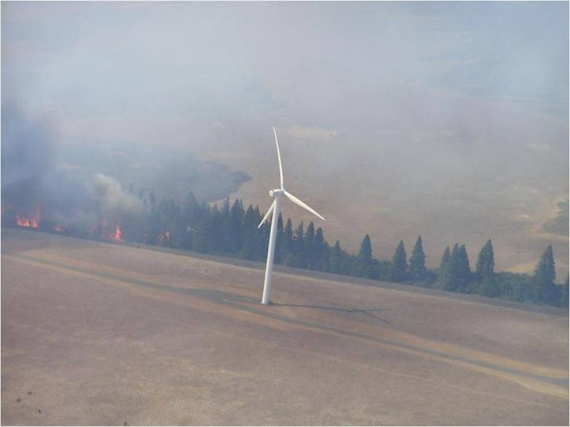A blaze from the Kittitas wildfire.