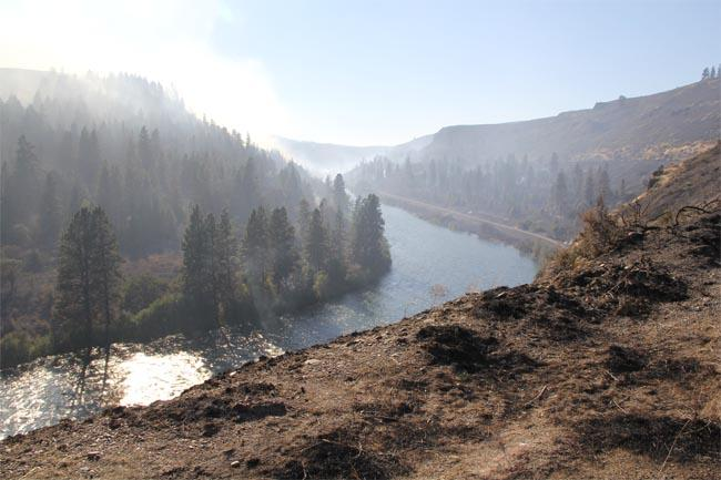 The Taylor Bridge fire jumped the Yakima River and several highways.