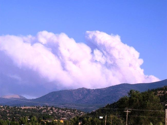 A view of the Parish Cabin Fire in eastern Oregon.