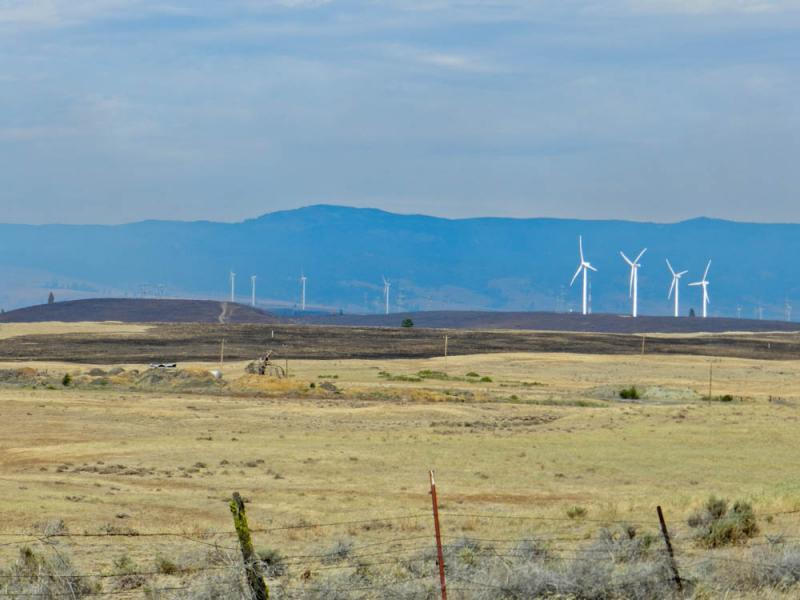 Central Washington wind turbines were not damaged in the Taylor Bridge fire.