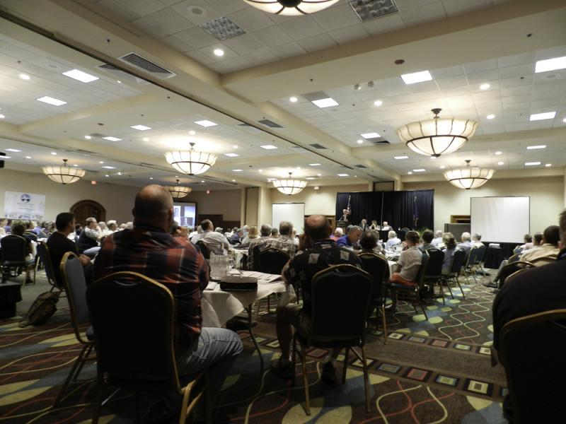 Attendees at a lecture during the Idaho Wildlife Summit.