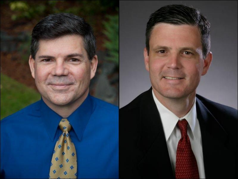 Republican James Watkins (L) and Democrat Troy Kelley are vying for Washington State Auditor.