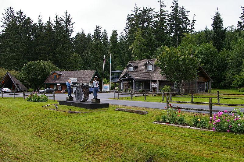 A timber museum in Forks, Washington.