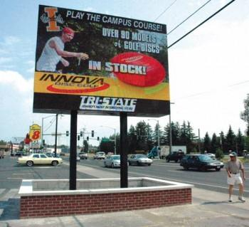 A dynamic display sign outside Tri-State in Moscow, Idaho.