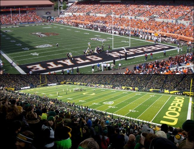 Big games in Corvallis and Eugene this weekend mean potential traffic headaches for travelers in Oregon.