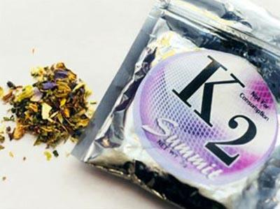 "K2, a popular brand of ""Spice"" mixture."