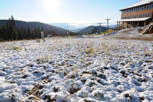 A light dusting of snow fell on Oct. 2 at Schweitzer outside of Sandpoint, Idaho.