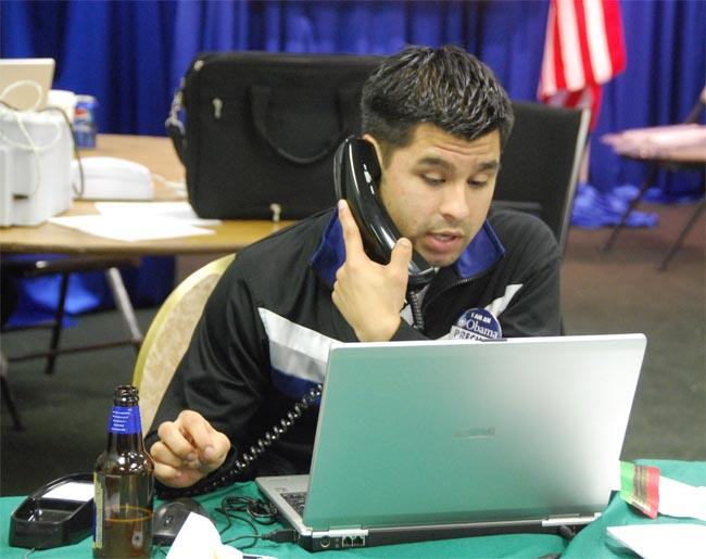 Volunteers all over the country are working the phones to remind likely voters to support their candidates.