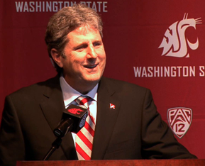 Washington State University Football Coach Mike Leach