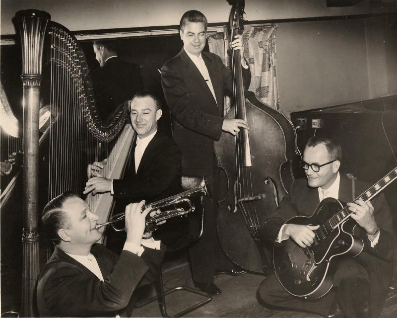 John LaChapelle, far right, with the Sandy Brant Quartet.