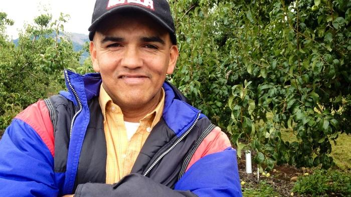 For 20 years, Victor Gonzalez has traveled the Pacific Coast picking cherries, pears, and apples. He said he came close to passing out once from the heat. Migrant workers are particularly vulnerable to health problems from heat.