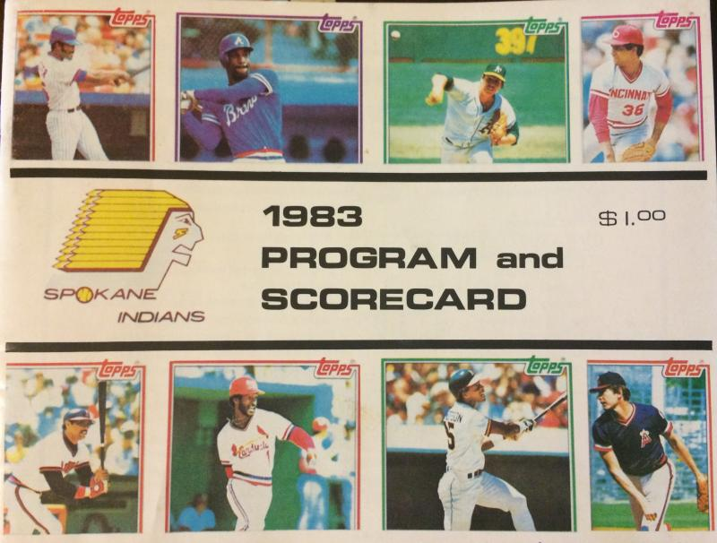 Spokane Indians program, 1983.