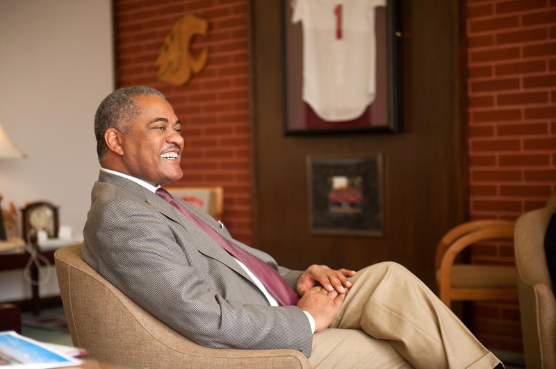 Elson S. Floyd, the tenth president of Washington State University. He took office on May 21, 2007